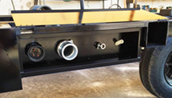 電気・ガス・水道・電話の接続方法は着脱式にすることですぐに移動可能な状態とします。